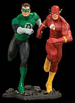 JLA Green Lantern and Flash Build a Scene Statue