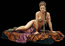 Star Wars Princess Leia as Jabba's Slave Statue