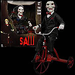 Saw Billy the Puppet with Tricycle 12-Inch Talking Figure