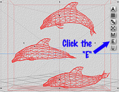 Example - wireframe dolphins