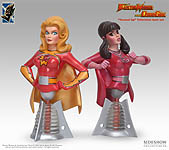 ElectraWoman and DynaGirl Mini Bust Set - 5.5 inch