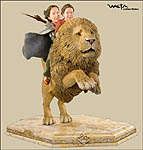 Girls on Aslan Statue